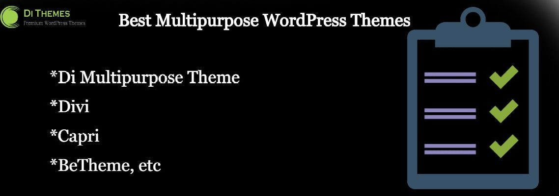 list multipurpose WordPress themes