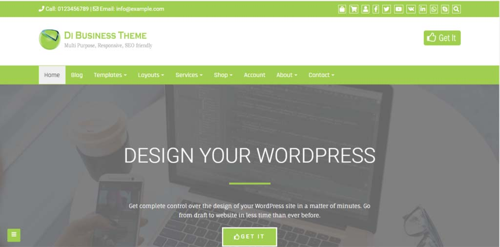 Di Business free WordPress theme