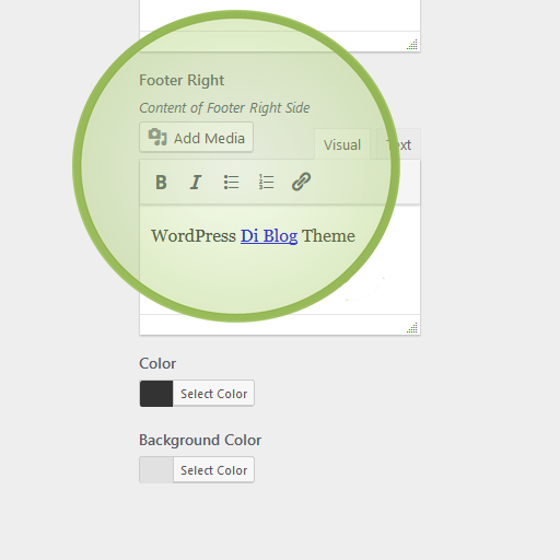 Customize Footer Credit