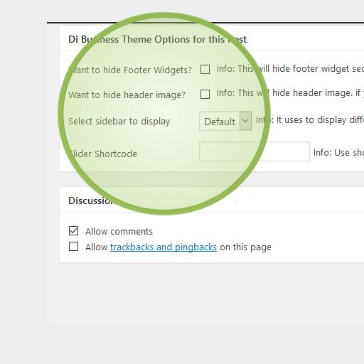 Di Business Display Custom Sidebar