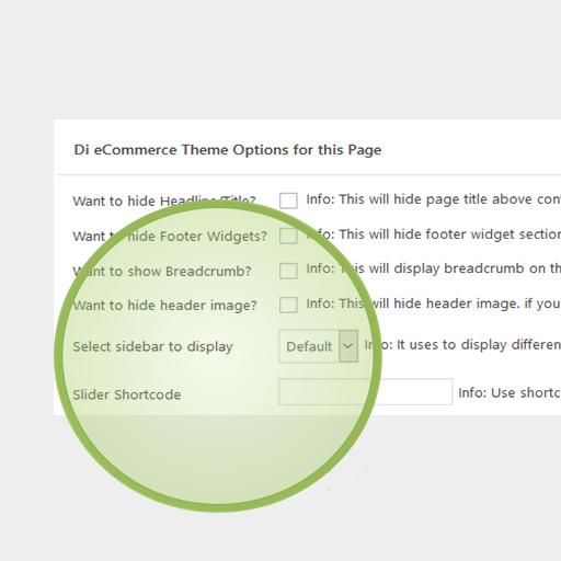 eCommerce Pro WordPress Theme Widgets