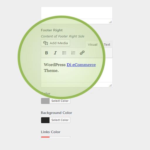 eCommerce Pro WordPress Theme Footer