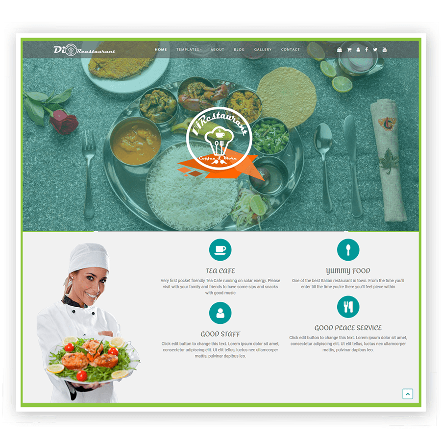Di Restaurant Theme For Food Websites.