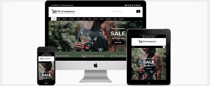 eCommerce Free WordPress Theme Documentation publishing your personal or company portfolio, showcasing your products, or services
