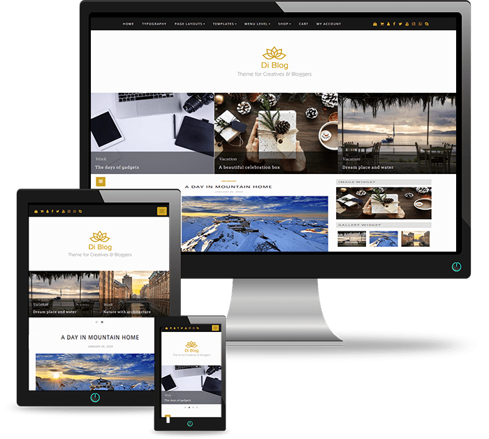 Blog WordPress Theme For Bloggers, Creative Users