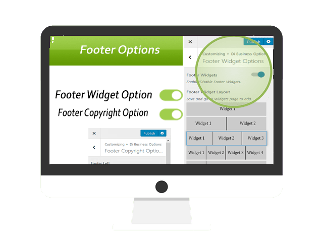 Use Business WordPress Theme Footer Widgets