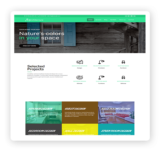 Architeture multipurpose WordPress theme demo