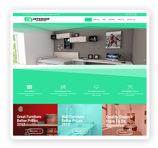 Interior WordPress Website