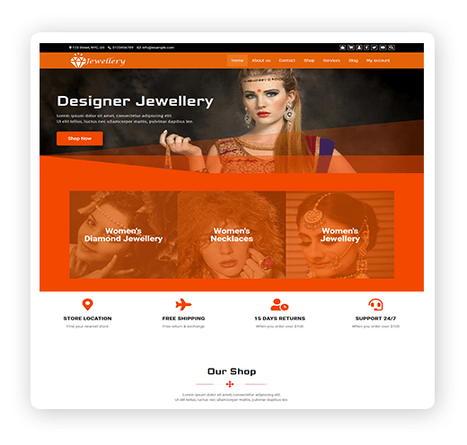 Jewellery multipurpose WordPress theme demo