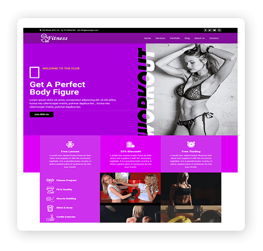 One page fitnesss multipurpose theme demo