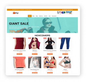 eCommerce shop multipurpose WordPress theme demo