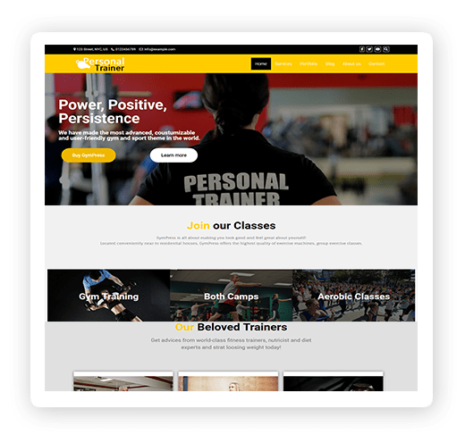 Personal trainer multipurpose theme demo