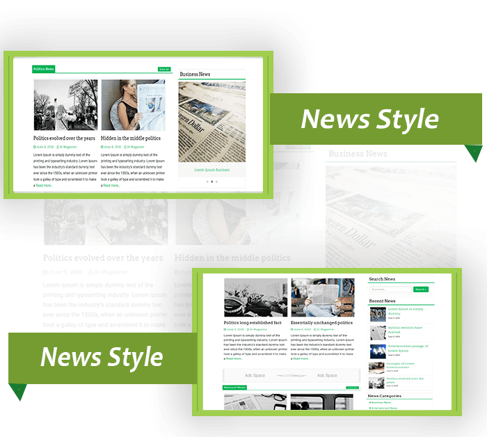 Magazine WordPress Theme to get attractive view of your updates, Di Magazine Responsive Theme is SEO-friendly.