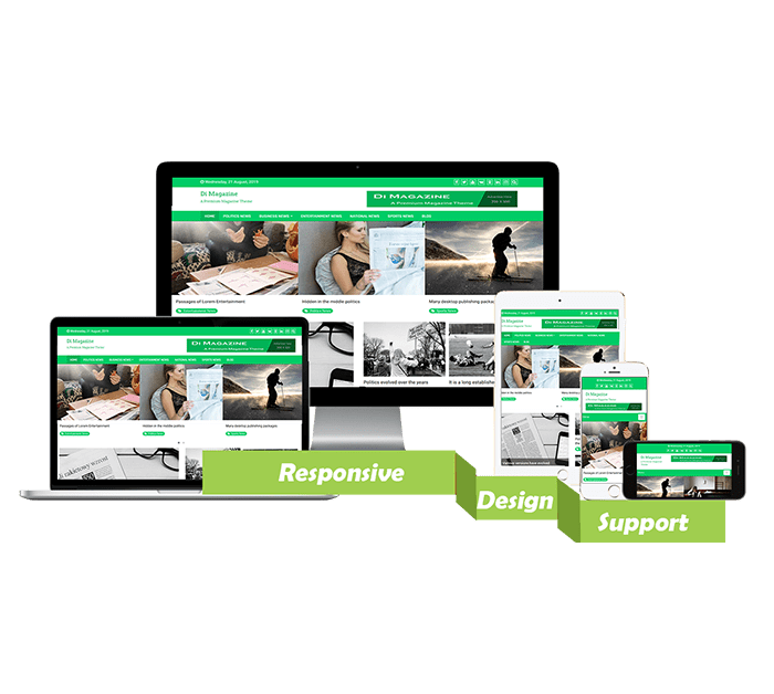 Di Magazine WordPress Theme for News, magazine portals and websites.