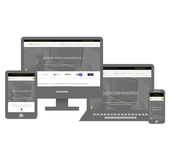 Di Responsive WordPress Theme For Your Business, It works in all devices whether small or large.