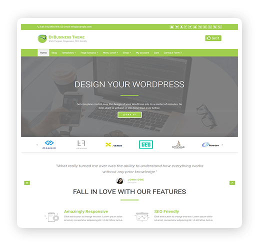 Busienss WordPress theme