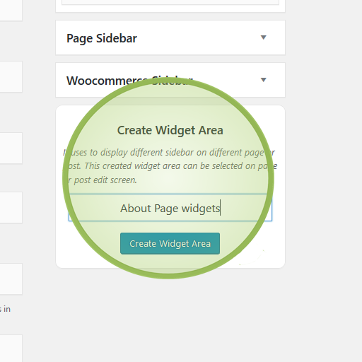 WordPress multipurpose theme widget areas