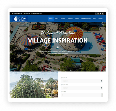 Multipurpose Theme Demo Hotel Resort